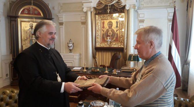 Встреча с директором Краславского исторического и художественного музея В. Гекишем