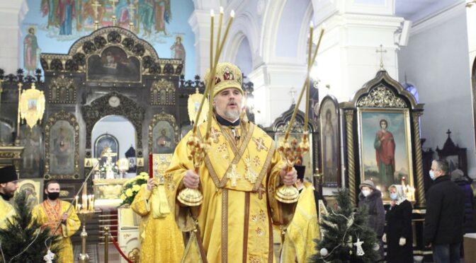 Предрождественское архиерейское богослужение в Даугавпилсе. Награждения