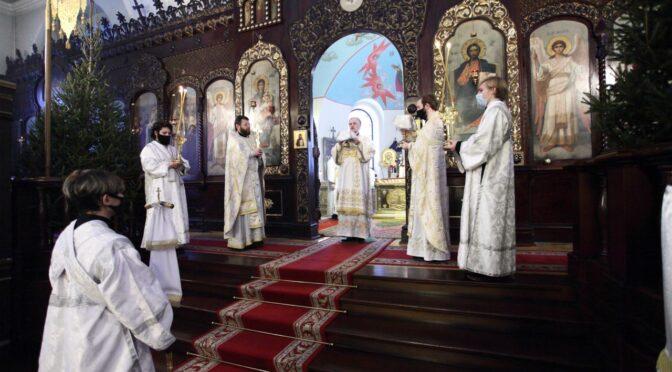 Архиерейское богослужение на святки. Награждение