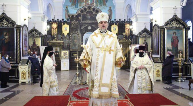 Богослужение Навечерия Богоявления в Даугавпилсском кафедральном соборе
