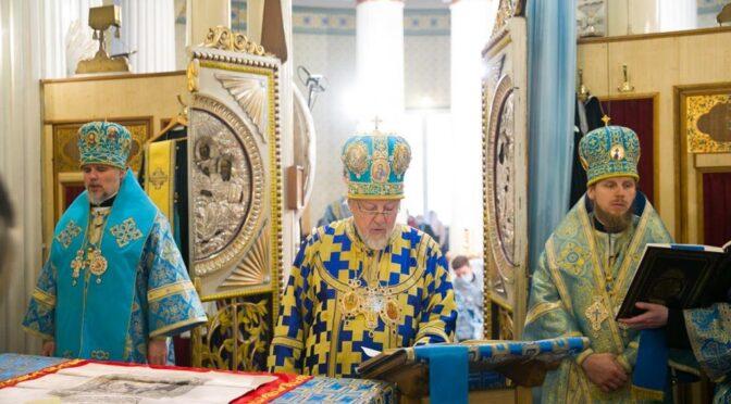 Божественная литургия в Риге в праздник Сретения Господня