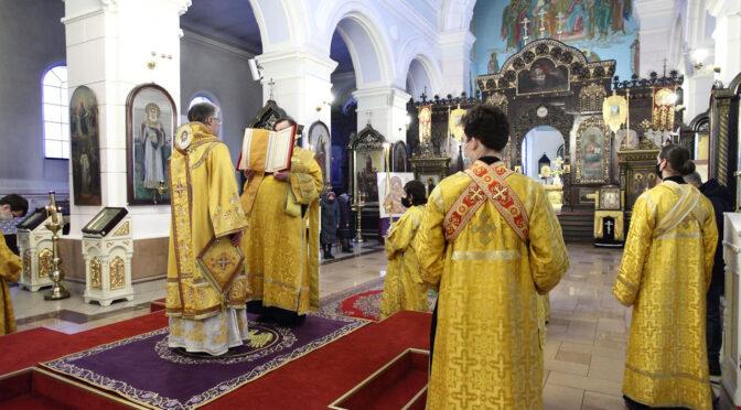 Всенощное бдение в Борисо-Глебском кафедральном соборе Даугавпилса