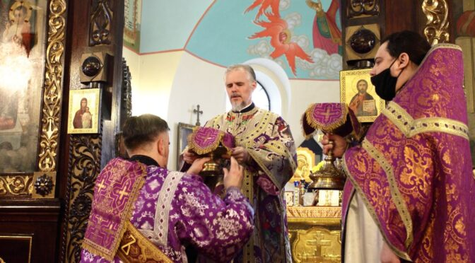 Богослужение в Неделю 2-ю Великого поста в Кафедральном соборе города Даугавпилса