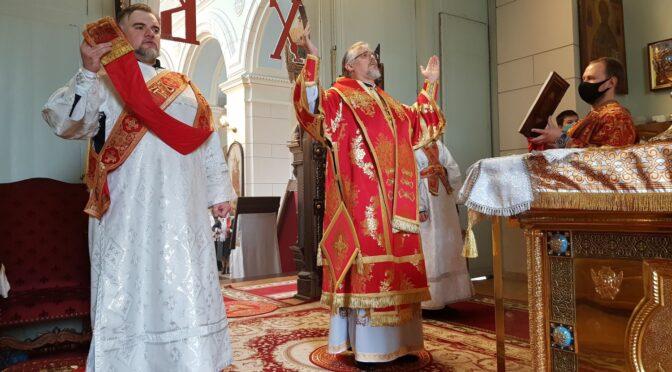Божественная литургия в Неделю о расслабленном