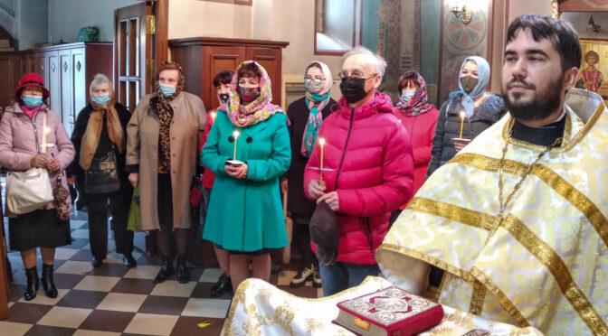 Молебен преподобной Евфросинии Полоцкой в Александро-Невском храме Даугавпилса