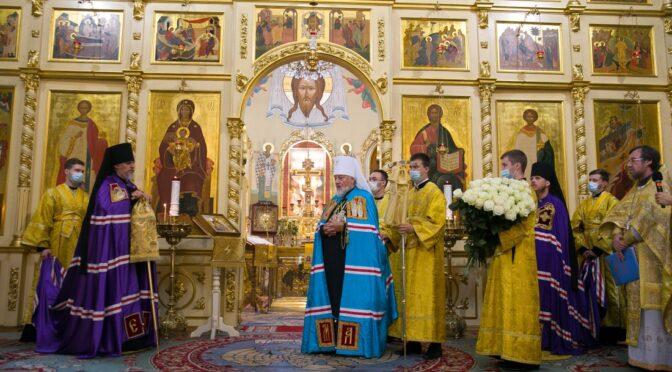 Латвийская Православная Церковь молитвенно отметила день Архиерейской хиротонии Высокопреосвященнейшего Митрополита Александра