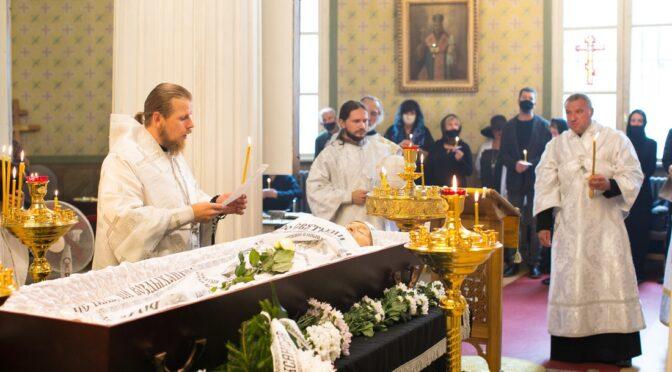 Совершено отпевание новопреставленного иподиакона Иоанна Карпушина