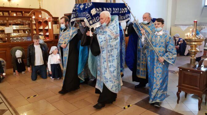 Чин погребения Пресвятой Богородицы в Даугавпилсском кафедральном соборе